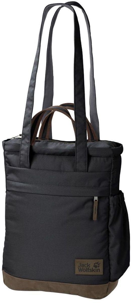 Сумка городская Jack Wolfskin Piccadilly, цвет: черный. 2004003-6000KV996OPY/MАксессуар-трансформер Piccadilly от Jack Wolfskin может быть использован как сумка и как городской рюкзак. Модель выполнена из сверхпрочного текстиля. У модели лямки трансформируются в плечевой ремень, одно отделение на молнии, двойной внешний карман, боковой карман.