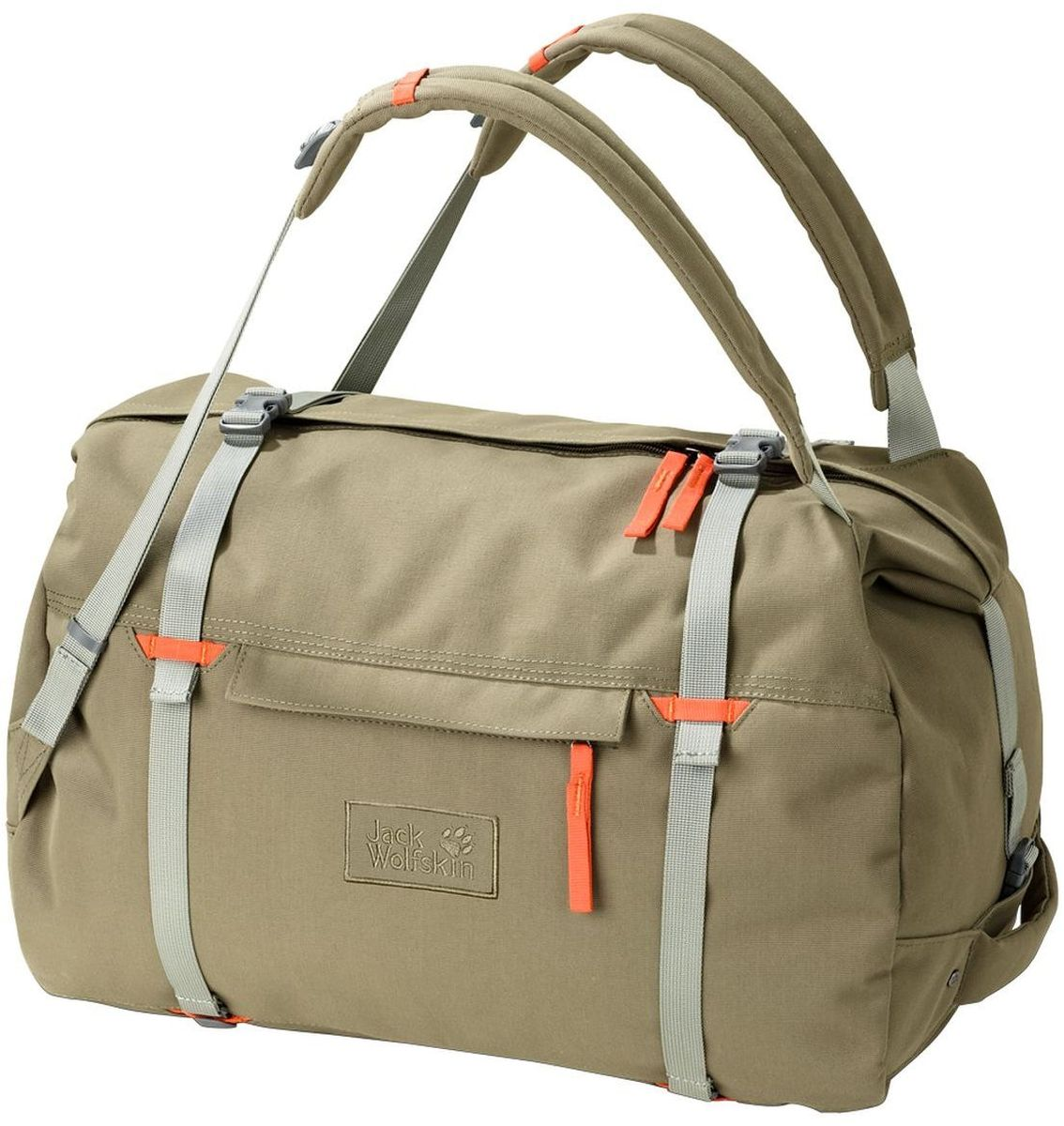 Сумка-рюкзак Jack Wolfskin Roamer 80 Duffle, цвет: бежевый. 2005451-5033311Сумка-рюкзак Jack Wolfskin Roamer 80 Duffle выполнена из полиэстер. Модель с одним отделением. Передняя стенка оформлена карманом на молнии. Очень большая и прочная сумка для путешествий с возможностью ношения как рюкзак
