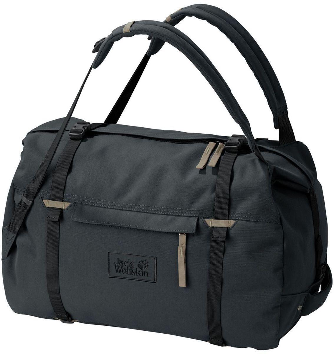 Сумка-рюкзак Jack Wolfskin Roamer 80 Duffle, цвет: темно-серый. 2005671-6350EQW-M710DB-1A1Сумка-рюкзак Jack Wolfskin Roamer 80 Duffle выполнена из полиэстер. Модель с одним отделением. Передняя стенка оформлена карманом на молнии. Очень большая и прочная сумка для путешествий с возможностью ношения как рюкзак