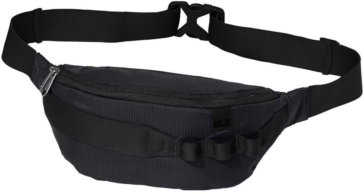 Сумка поясная Jack Wolfskin Hip N Sling, цвет: черный. 8002231-6001ГризлиМаленькая поясная сумка для необходимых мелких предметов. Модель с одним отделением на молнии, регулируется в объеме при помощи фастекса.
