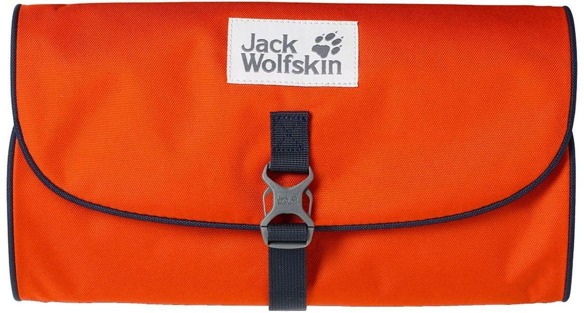 Нессесер Jack Wolfskin Waschsalon, цвет: оранжевый. 86130-3023EQW-M710DB-1A1Несессер от Jack Wolfskin идеально подходит для путешествий и поездок выходного дня. Модель выполнена из плотного текстиля. Модель застегивается на клапан с фастексом. Два внутренних кармана на молнии, два кармана на липучке, два кармана без застежки, съемное зеркальце на липучке, крючок для подвешивания.