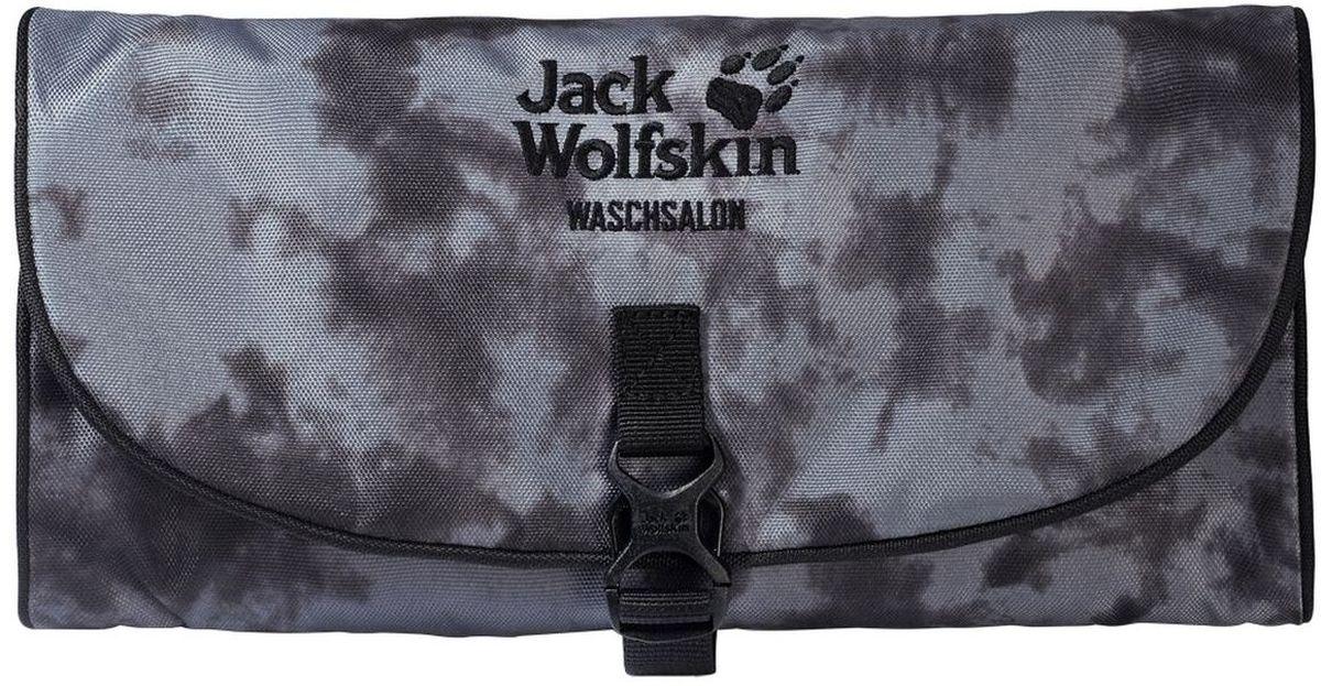 Нессесер Jack Wolfskin Waschsalon, цвет: серый. 86130-795523008Несессер от Jack Wolfskin идеально подходит для путешествий и поездок выходного дня. Модель выполнена из плотного текстиля. Модель застегивается на клапан с фастексом. Два внутренних кармана на молнии, два кармана на липучке, два кармана без застежки, съемное зеркальце на липучке, крючок для подвешивания.