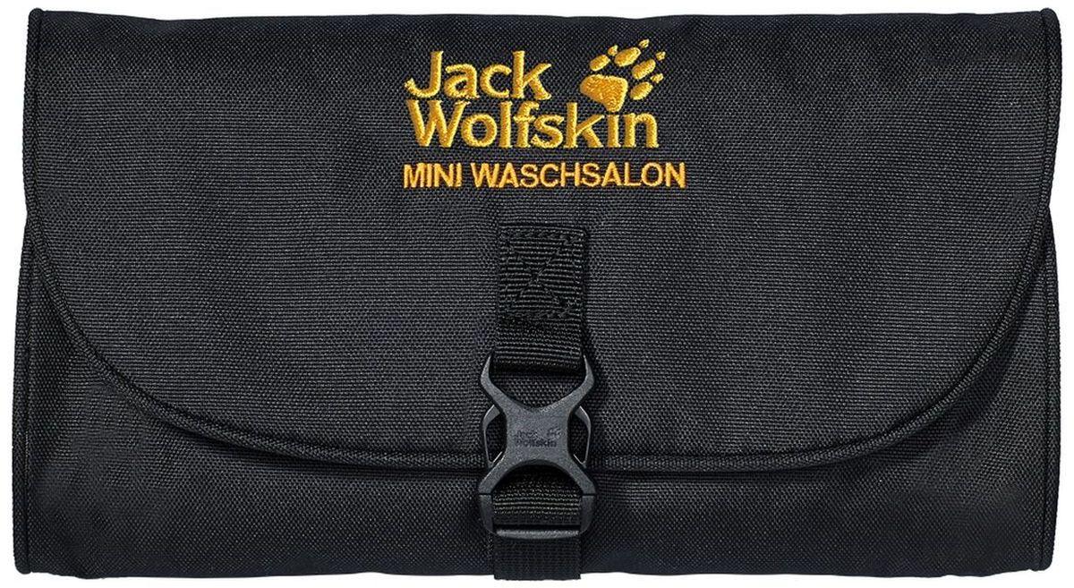 Нессесер Jack Wolfskin Mini Waschsalon, цвет: черный. 86150-600EQW-M710DB-1A1Mini Waschsalon - компактный, но вместительныйнесессер, который, без сомнения, очень пригодится вам в поездке или походе. За вращающийся пластиковый крючок его можно повесить на любой держатель для полотенец или на дерево. Закрывается несессер на застежку-фастекс. Внутри есть отделение на застежке-молнии, большой карман из сетчатого материала на молнии и 4 продольных прорезных кармашка.