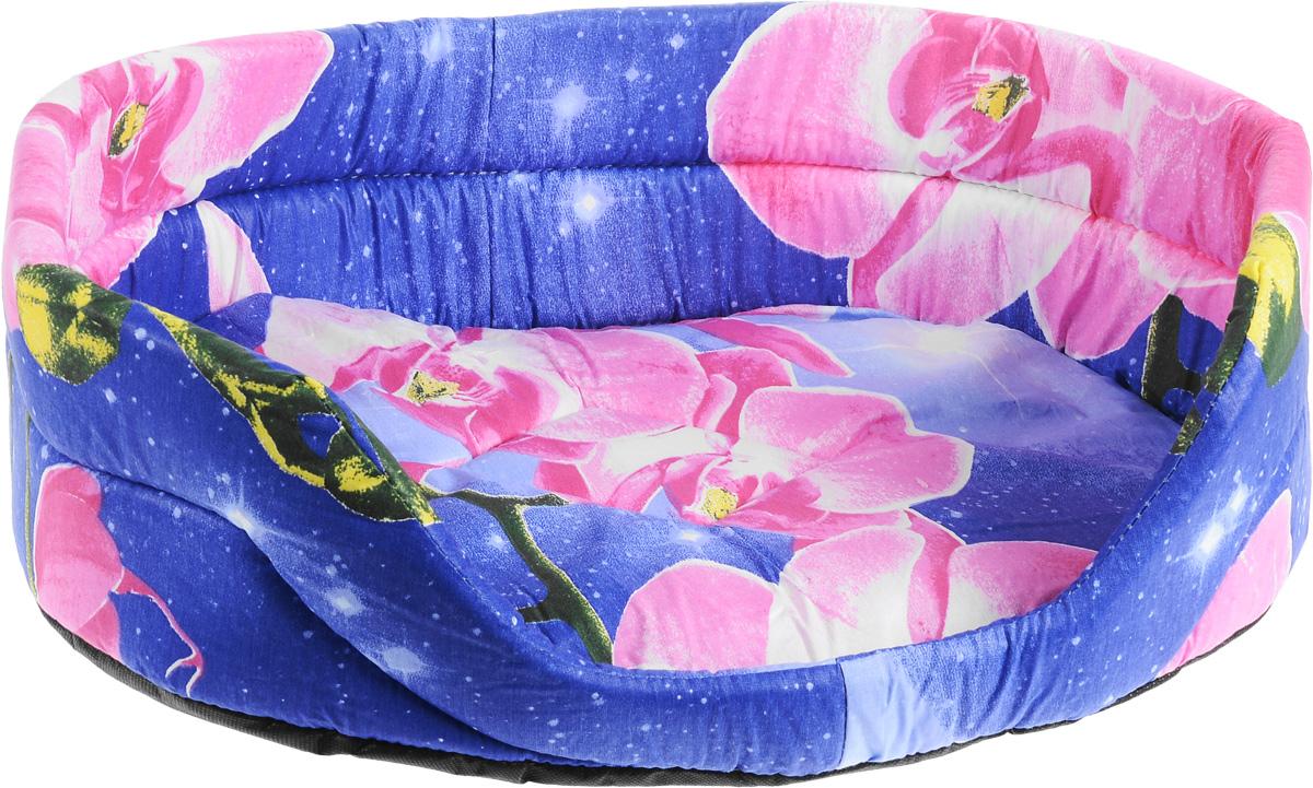 Лежак для животных Elite Valley, цвет: фиолетовый, розовый, 55 х 40 х 18,5 см0120710Лежак Elite Valley обязательно понравится вашему питомцу. Изделие выполнено из бязи (100% хлопка) и нетканого волокна, а наполнитель - из поролона. Такой материал не теряет своей формы долгое время. Внутри имеется мягкая съемная подстилка.Лежак Elite Valley обеспечит вашему любимцу уют, подарит спокойный и комфортный сон, а также убережет вашу мебель от многочисленной шерсти.