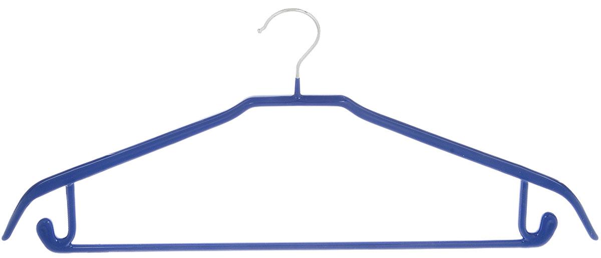 Вешалка универсальная Attribute Hanger Neo, цвет: синий, длина 43 смAHS721Вешалка Attribute Hanger Neo изготовлена из качественной стали с антискользящим покрытием из ПВХ. Изделие оснащено перекладиной и боковыми крючками.Вешалка - это незаменимая вещь для того, чтобы одежда всегда оставалась в хорошем состоянии и имела опрятный вид.Длина вешалки: 43 см.