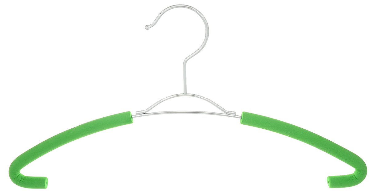 Вешалка для рубашек Attribute Hanger Eva, цвет: зеленый, длина 41 смAHM751Вешалка для рубашек Attribute Hanger Eva выполнена из качественной стали, плечики обтянуты поролоном.Вешалка - это незаменимая вещь для того, чтобы ваша одежда всегда оставалась в хорошем состоянии. Длина вешалки: 41 см.
