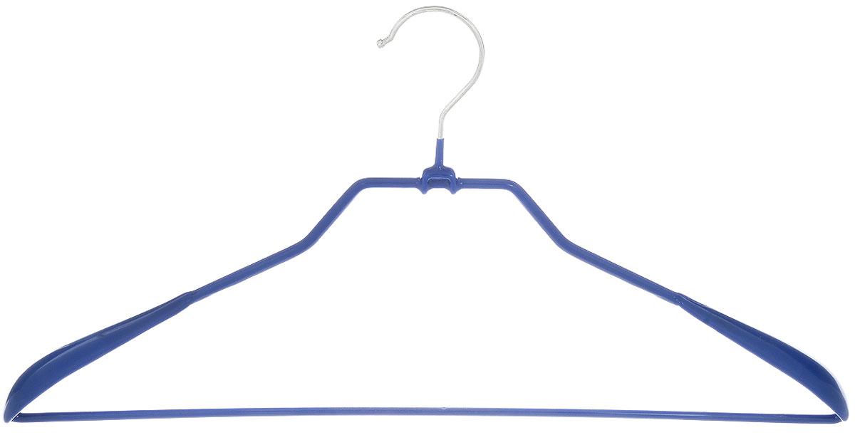 Вешалка для верхней одежды Attribute Hanger Neo, цвет: синий, длина 45 см41619Вешалка для верхней одежды Attribute Hanger Neo изготовлена из качественной стали с антискользящим покрытием из ПВХ. Изделие оснащено перекладиной.Вешалка - это незаменимая вещь для того, чтобы одежда всегда оставалась в хорошем состоянии и имела опрятный вид.Длина вешалки: 45 см.
