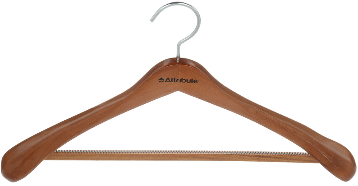 Вешалка для верхней одежды Attribute Hanger, цвет: орех, длина 46,5 смRG-D31SВешалка для верхней одежды Attribute Hanger выполнена из дерева и оснащена перекладиной с нескользящим ПВХ-покрытием. Вешалка - это незаменимая вещь для того, чтобы ваша одежда всегда оставалась в хорошем состоянии. Длина вешалки: 46,5 см.