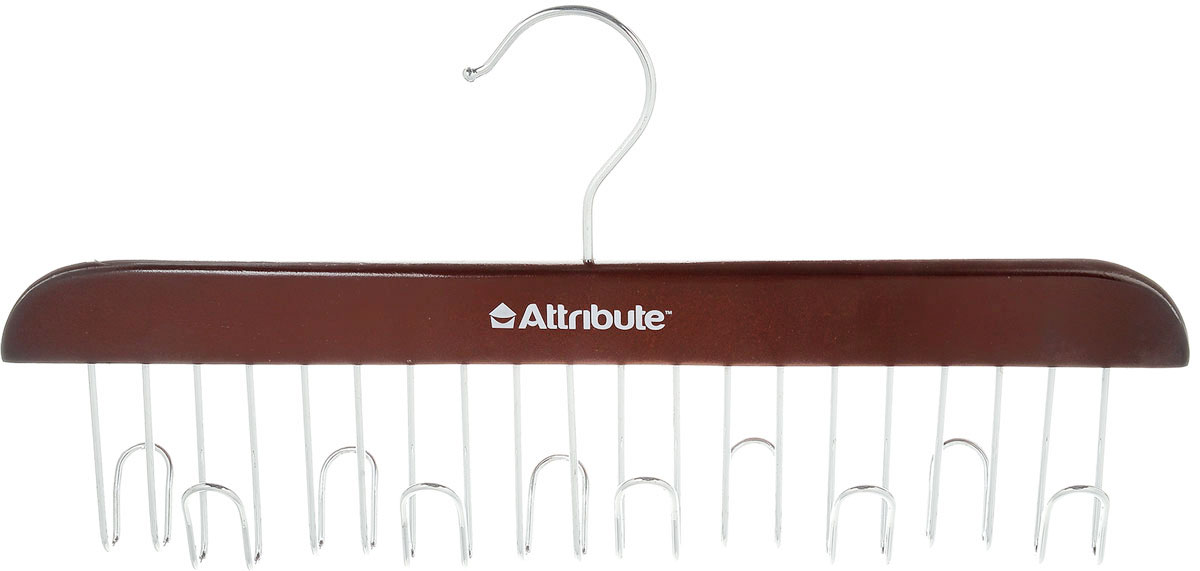 Вешалка для ремней Attribute Hanger, цвет: красное дерево, длина 32,5 см41619Вешалка для ремней Attribute Hanger выполнена из качественного металла и дерева. Оригинальная и удобная вешалка для ремней, также может использоваться для сумок и аксессуаров (платков, палантинов), она не займет много места и станет вашим незаменимым помощником. Длина вешалки: 32,5 см.
