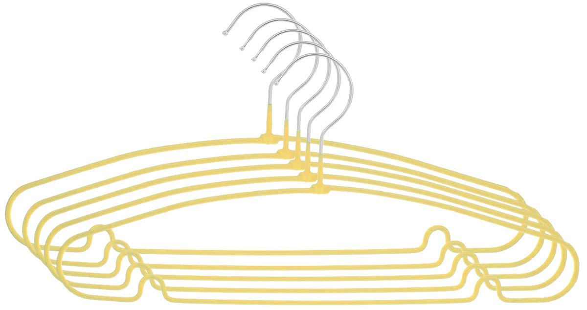 Вешалка Attribute Hanger Home, цвет: желтый, длина 40 см, 5 штAHS154_желтыйНабор вешалок Attribute Hanger Home выполнен из стали, обтянутой материалом из ПВХ. Вешалка - это незаменимая вещь для того, чтобы ваша одежда всегда оставалась в хорошем состоянии.Длина вешалки: 40 см.