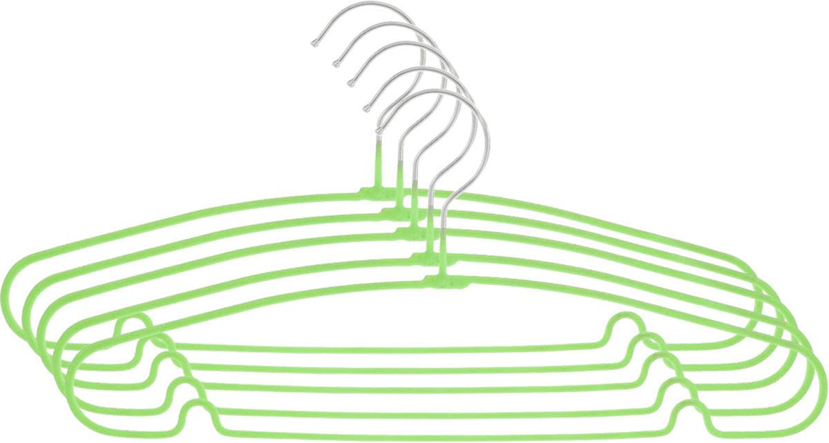 Вешалка Attribute Hanger Home, цвет: зеленый, длина 40 см, 5 шт1004900000360Набор вешалок Attribute Hanger Home выполнен из стали, обтянутой материалом из ПВХ. Вешалка - это незаменимая вещь для того, чтобы ваша одежда всегда оставалась в хорошем состоянии.Длина вешалки: 40 см.