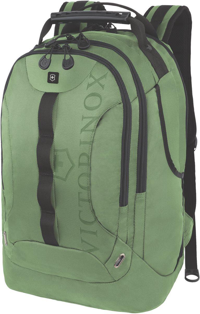 Рюкзак городской Victorinox VX Sport Trooper, цвет: зеленый, 28 л + ПОДАРОК: нож-брелок EscortZ90 blackКоллекция VX Sport сочетает в себе культовый дизайн и прочную конструкцию.Основанные на многогранной функциональности,которая присуща оригинальному швейцарскому армейскому ножу,рюкзаки этой коллекции обеспечивают защиту современным технологическим устройствам и многофункциональную организацию вещей таким образом,что вы будете готовы к любой ситуации. VICTORINOXарт. 31105306РЮКЗАК КЛАССА «ЛЮКС» ДЛЯ НОУТБУКА ДИАГОНАЛЬЮ 16 / 41 СМ С КАРМАНОМ ДЛЯ ПЛАНШЕТА / ЭЛЕКТРОННОЙ КНИГИ34x27x48 см1,25 кг28 лХАРАКТЕРИСТИКИ И СВОЙСТВА• Мягкое отделение для ноутбука диагональю 16 (41см) с гладкой, устойчивой к механическим повреждениям подкладкой• Мягкий карман для портативного электронного устройства диагональю 10 (25 см) с гладкой, устойчивой к механическим повреждениям подкладкой• Внешняя организационная секция включает в себя карман на молнии по всей длине, карман для хранения электроники, карман для хранения периферийных устройств, сетчатый карман для документов, удостоверяющих личность, петлю для ручки и карабин для ключей• Фронтальная сторона включает в себя скрытый карман на молнии и многофункциональные боковые карманы, идеально подходящие для бутылки с водой или зонтика• Мягкие регулируемые плечевые ремни• Мягкая задняя стенка с продуваемыми воздушными каналами обеспечивает максимальный комфорт, предотвращая запотевание спины• Задний рукав для продевания через телескопическую ручку чемоданов позволяет одновременно перемещать два и более предметов багажа
