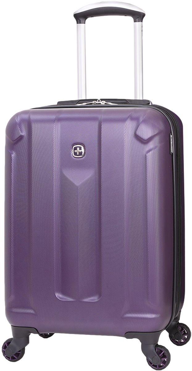 Чемодан Wenger Zurich III, цвет: фиолетовый. 6573909177332515-2800Чемодан Wenger выполнен из ABS пластика и оформлен фирменной пластинкой. Изделие оснащено регулируемой выдвижной ручкой из авиационного алюминия с фиксатором, которая обеспечивает удобство перемещения чемодана. Также чемодан имеет удобные прочные ручки для переноски и 4 колеса, которые вращаются на 360 градусов, гарантируя максимальную манёвренность. Чемодан имеет два главных отделение, которые закрываются с помощью застежки-молнии. Внутри расположено два вместительных отделения, разделенные сетчатой тканевой перегородкой на молнии. Внутренний карман на молнии и эластичные ремни гарантируют надежную фиксацию вещей на месте. Вместимость чемодана может быть дополнительно увеличена на 5 см.