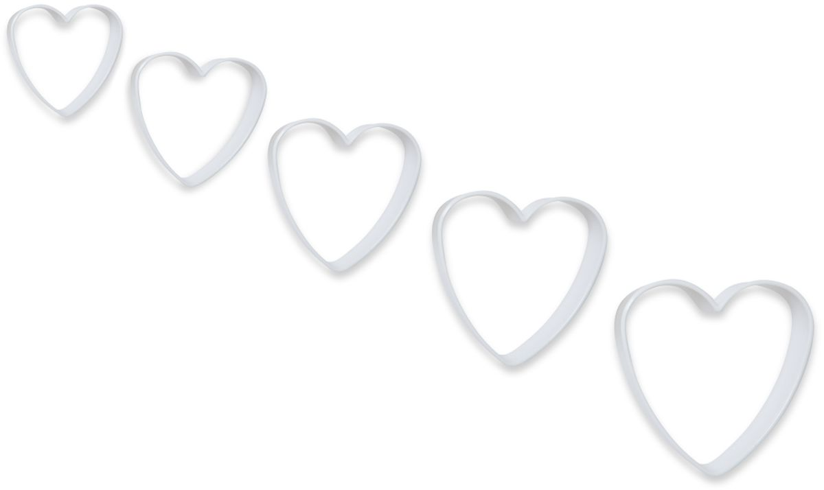 Формочки для вырезания печенья Dosh l Home PAVO. Сердечки, 5 шт. 30027268/5/4Формочки Dosh l Home PAVO прекрасно подходят для легкого вырезания печенья 5 разных размеров из песочного, пряничного теста и теста для печенья. Изготовлены из высококачественного пластика.