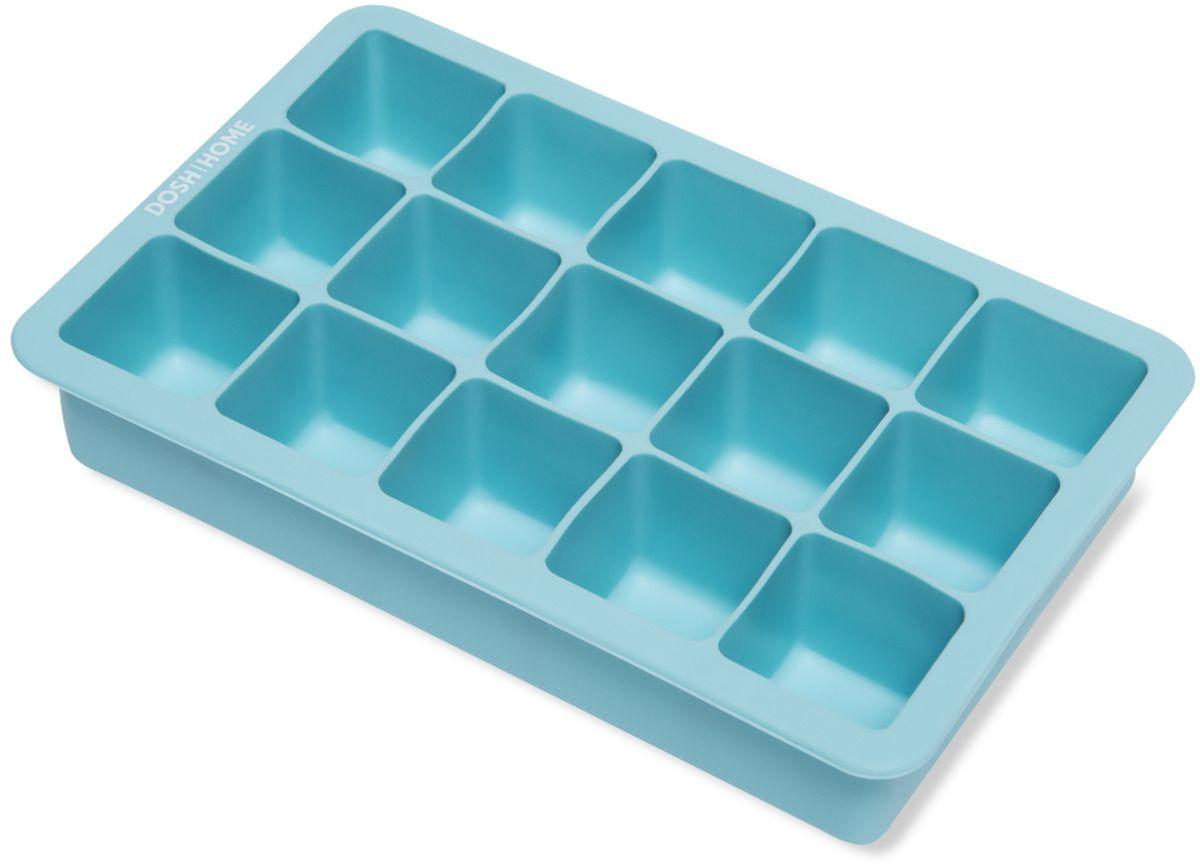 Форма для льда Dosh l Home PAVO, с гибким дном, силиконовая, цвет: голубойFA-5125 WhiteФорма Dosh l Home PAVO замечательно подойдет для приготовления кубиков льда.Она имеет гибкое дно для удобства. Изготовлено из силикона, можно мыть в посудомоечной машине.