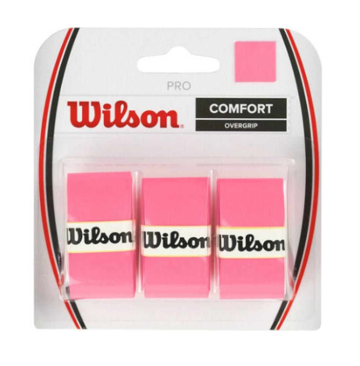 Обмотка Wilson Pro Overgrip, цвет: розовый332515-2800Самый популярный овергрипп в мире. Выбор Лидеров мирового Тенниса Серены и Роджера