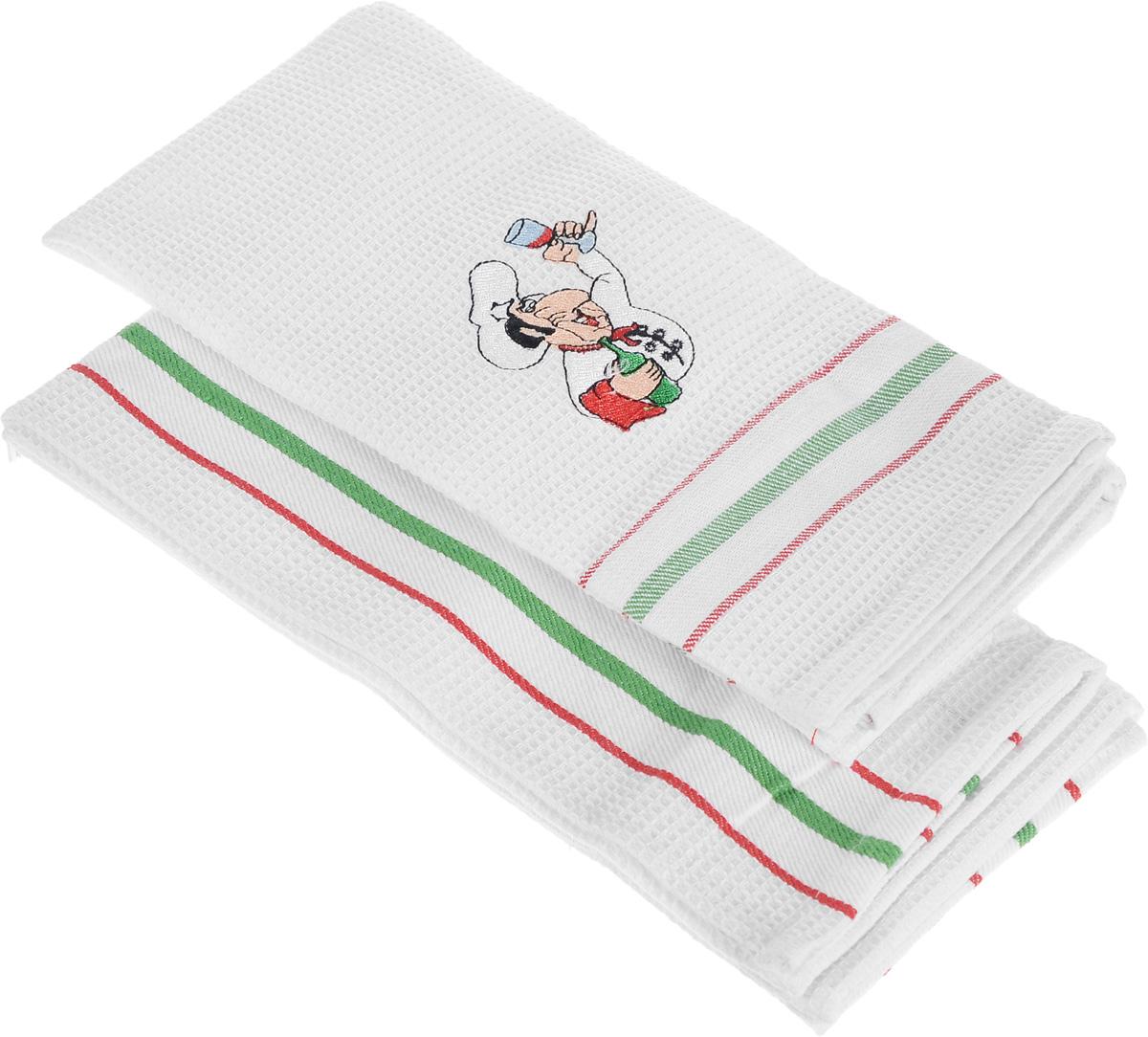 Набор кухонных полотенец Bon Appetit Italy. Towel, цвет: красный, 2 шт