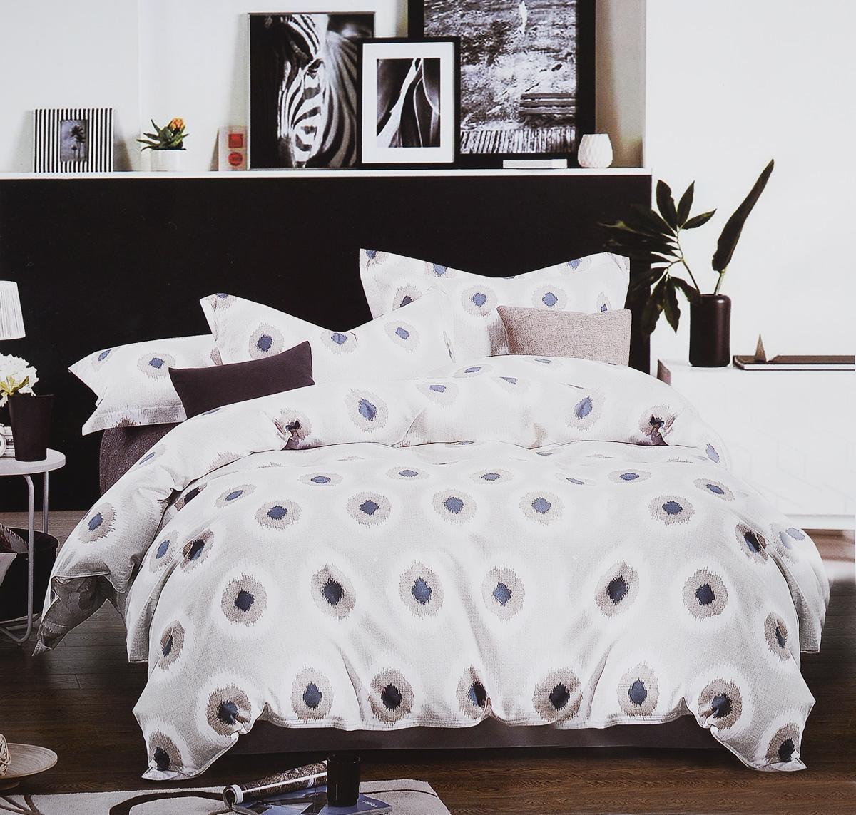 Комплект белья Cleo Дымчатый полькадос, евро, наволочки 50х70, 70х70391602Коллекция постельного белья из микросатина CLEO – совершенство экономии, но не на качестве! Благодаря новейшим технологиям микросатин – это прочность, легкость, простота в уходе, всегда яркие цвета после стирки. Микро-сатин набирает все большую популярность, благодаря своим уникальным характеристикам. Окраска материала - стойкая, цветовая палитра - яркая, насыщенная. Микро-сатин хорошо впитывает влагу, а после стирки быстро сохнет, становясь шелковистым на ощупь, мягким и воздушным. Комплект состоит из пододеяльника, четырех наволочек и простыни.