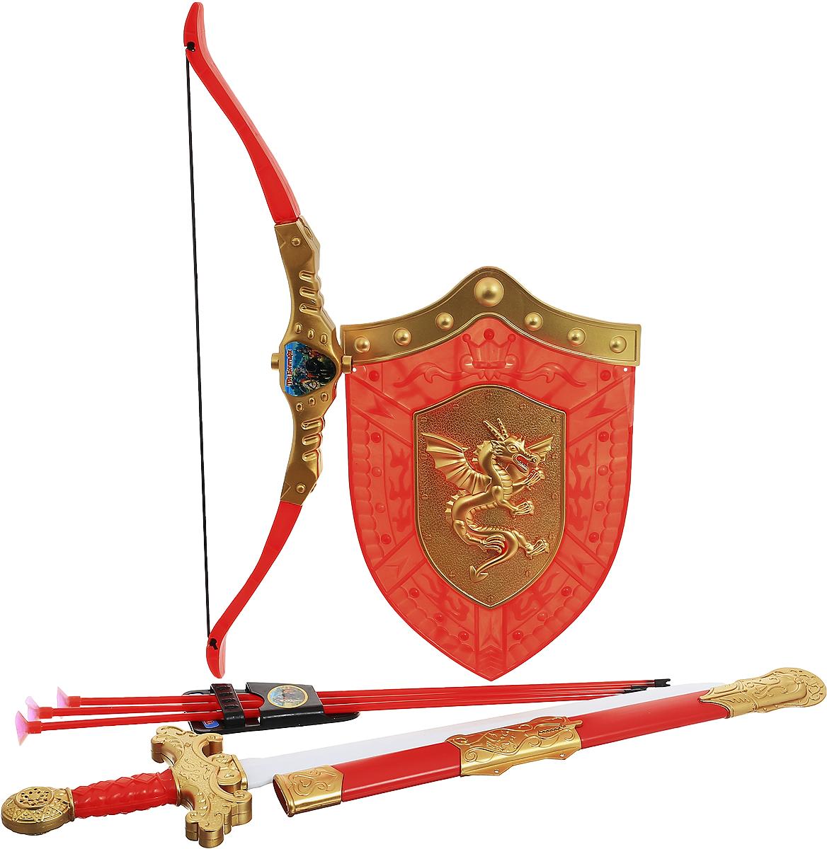 Играем вместе Набор оружия Три богатыря 8 предметов цвет красный золотистый