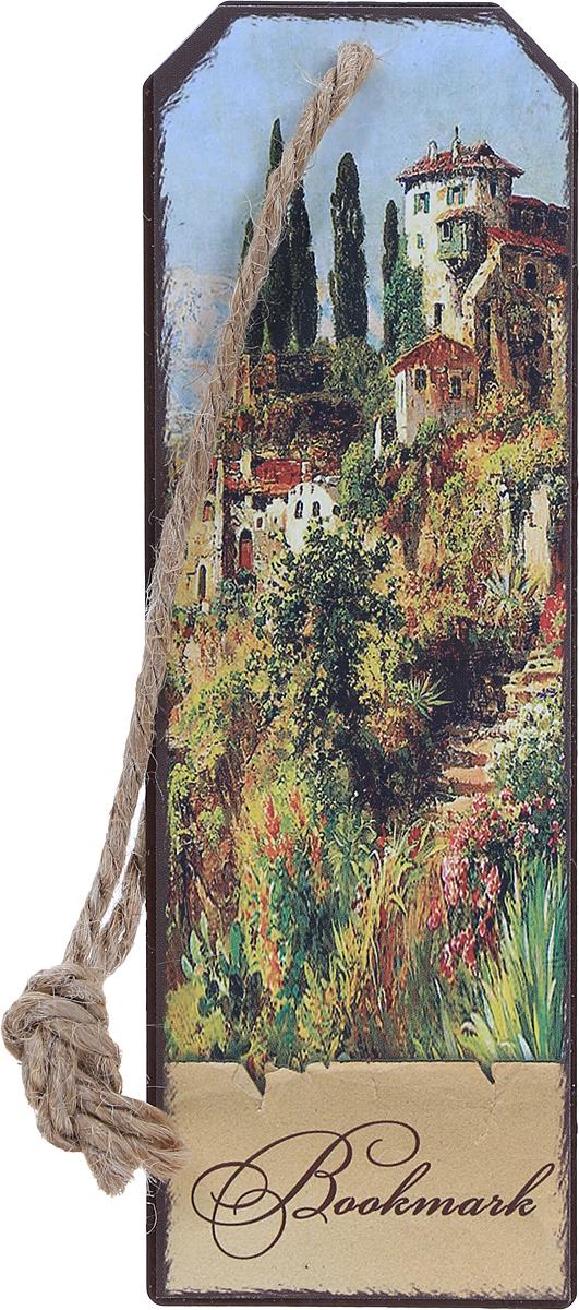 Magic Home Закладка декоративная для книг Итальянский городок -  Закладки для книг