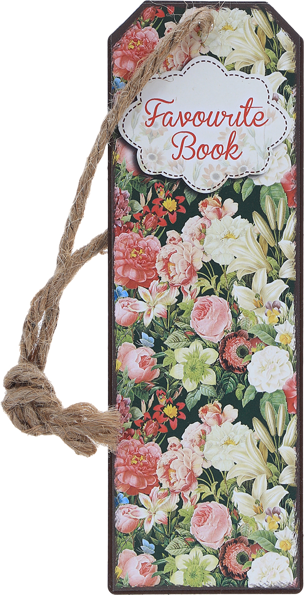 Magic Home Закладка декоративная для книг Райский сад43581Декоративная закладка для книг Magic Home Райский сад - великолепный подарок для тех, кто не мыслит свою жизнь без книг.Закладка представляет собой пластину из черного окрашенного металла с текстильным шнурком.Закладка украсит не только книгу, но сделает нарядным и оригинальным стандартный органайзер или семейный альбом.