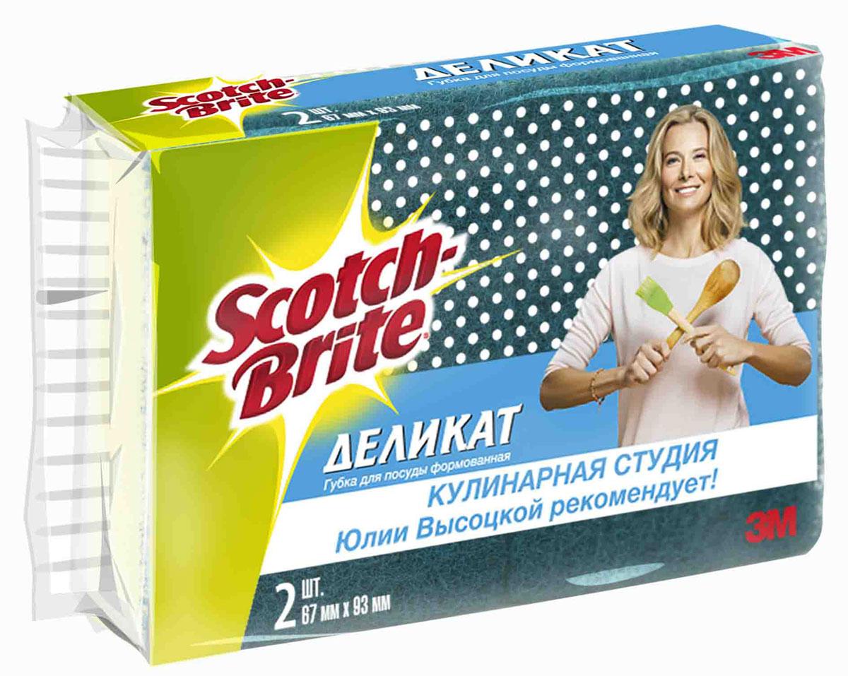 Набор губок для деликатной чистки Scotch-Brite, 2 штPANTERA SPX-2RSНабор из 2 губок Scotch-Brite идеально подходит для чистки посуды со специальным покрытием из стекла, фарфора, тефлона. Идеально удаляет жир, грязь и пригоревшую пищу. Отлично подходит как для посуды, так и для любой другой поверхности. Для удобства применения с одной стороны губки нанесен абразивный слой. Губки сохраняют чистоту и свежесть даже после многократного применения, а их эргономичная форма удобна для руки. Преимущества: быстро и эффективно очистит посуду и кухонные поверхностиблагодаря деликатному чистящему слою не царапает, не повреждает поверхности удобна в использованиидолго служит. Характеристики:Материал: сложные полимеры. Размер: 9 см х 7 см х 4,5 см. Количество:2 шт. Изготовитель:Россия. Артикул: XN004500031.