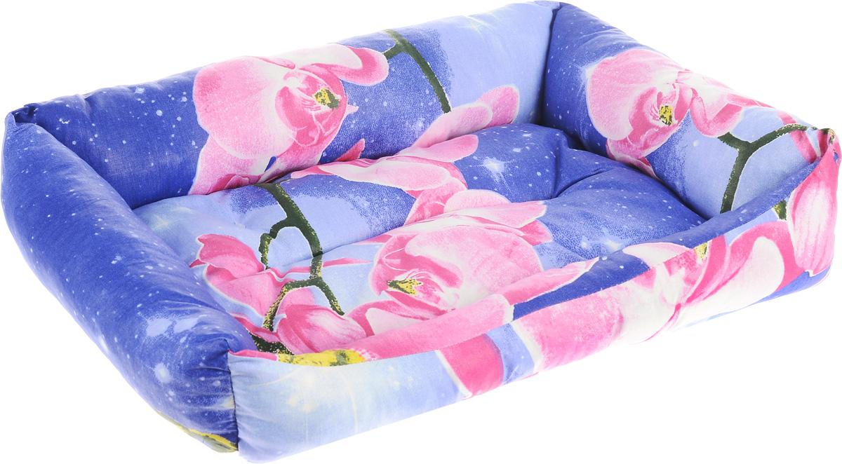 Лежак для животных Elite Valley Пуфик, цвет: синий, розовый, белый, 46 х 33 х 14 см0120710Мягкий и уютный лежак Elite Valley Пуфик обязательно понравится вашему питомцу. Он выполнен из высококачественной бязи, а наполнитель - холлофайбер. Такой материал не теряет своей формы долгое время. Борта и встроенный матрас обеспечат вашему любимцу уют.Мягкий лежак станет излюбленным местом вашего питомца, подарит ему спокойный и комфортный сон, а также убережет вашу мебель от многочисленной шерсти.