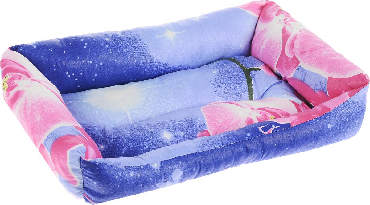 Лежак для животных Elite Valley Пуфик, цвет: синий, розовый, белый, 41 х 28 х 13 см101246Мягкий и уютный лежак Elite Valley Пуфик обязательно понравится вашему питомцу. Он выполнен из высококачественной бязи, а наполнитель - холлофайбер. Такой материал не теряет своей формы долгое время. Борта и встроенный матрас обеспечат вашему любимцу уют.Мягкий лежак станет излюбленным местом вашего питомца, подарит спокойный и комфортный сон, а также убережет вашу мебель от многочисленной шерсти.