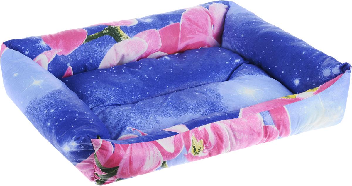 Лежак для животных Elite Valley Пуфик, цвет: синий, розовый, белый, 51 х 38 х 15 см0120710Мягкий и уютный лежак Elite Valley Пуфик обязательно понравится вашему питомцу. Он выполнен из высококачественной бязи, а наполнитель - холлофайбер. Такой материал не теряет своей формы долгое время. Борта и встроенный матрас обеспечат вашему любимцу уют.Мягкий лежак станет излюбленным местом вашего питомца, подарит ему спокойный и комфортный сон, а также убережет вашу мебель от многочисленной шерсти.