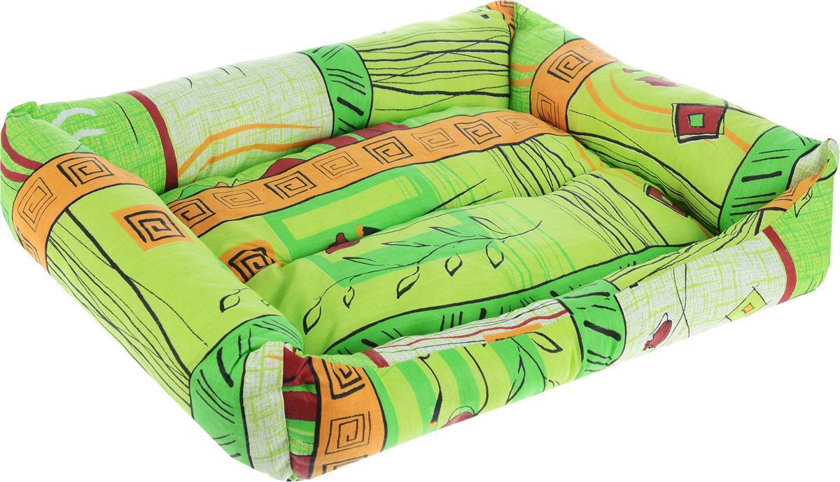Лежак для животных Elite Valley Пуфик, цвет: светло-зеленый, оранжевый, бордовый, 51 х 38 х 15 смЛ4/3 Лежак Пуфик открытый _ стамбул зеленый материал бязь, холофайберМягкий и уютный лежак Elite Valley Пуфик обязательно понравится вашему питомцу. Он выполнен из высококачественной бязи, а наполнитель - холлофайбер. Такой материал не теряет своей формы долгое время. Борта и встроенный матрас обеспечат вашему любимцу уют.Мягкий лежак станет излюбленным местом вашего питомца, подарит ему спокойный и комфортный сон, а также убережет вашу мебель от многочисленной шерсти.