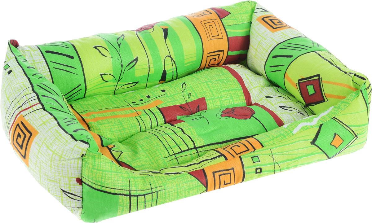 Лежак для животных Elite Valley Пуфик, цвет: светло-зеленый, оранжевый, бордовый, 41 х 28 х 13 см12171996Мягкий и уютный лежак Elite Valley Пуфик обязательно понравится вашему питомцу. Он выполнен из высококачественной бязи, а наполнитель - холлофайбер. Такой материал не теряет своей формы долгое время. Борта и встроенный матрас обеспечат вашему любимцу уют.Мягкий лежак станет излюбленным местом вашего питомца, подарит спокойный и комфортный сон, а также убережет вашу мебель от многочисленной шерсти.