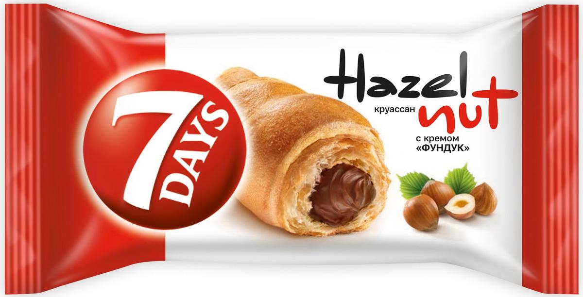 """Круассан """"7DAYS"""" с кремом из фундука – инновационный продукт 7DAYS.Уникальное сочетание пасты из настоящего фундука и нежного теста."""