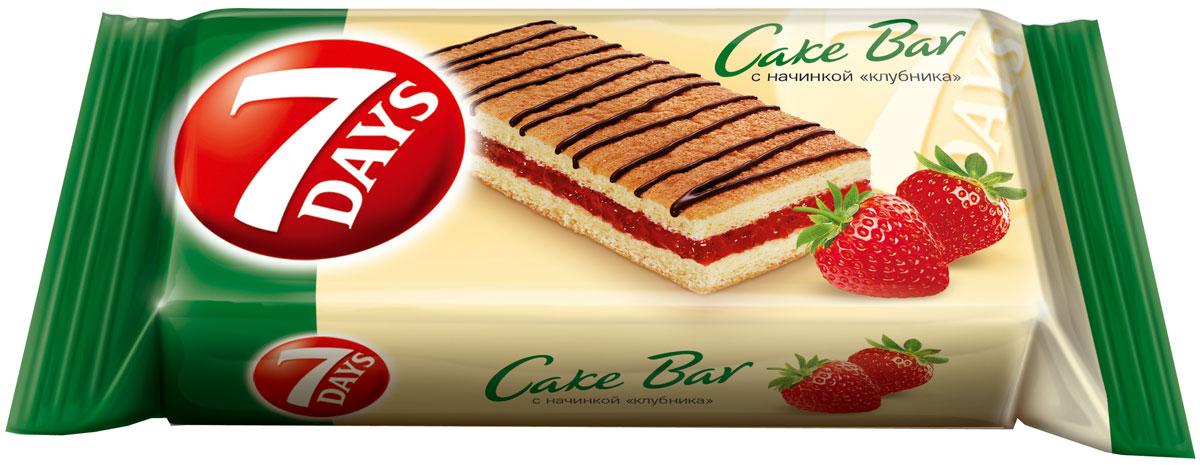 7DAYS Cake Bar Пирожное бисквитное с начинкой