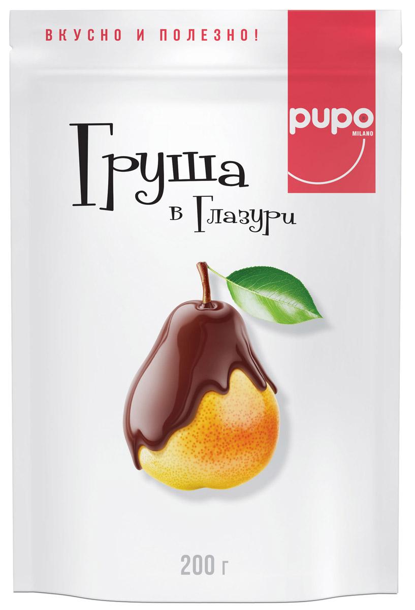 Pupo конфеты Груша в глазури, 200 г0120710Среднеазиатские груши, имеющие плотную мякоть, без ярко выраженного вяжущего вкуса, вызревшие и вкусные, идеальны для сушки. Сушеные груши PUPO обладают исключительно природной сладостью и в полной мере сохранили полезные вещества. Благодаря витаминам и микроэлементам, груши PUPO нормализуют сердечно-сосудистую и нервную системы. Они отлично подходят в качестве альтернативы десертам.