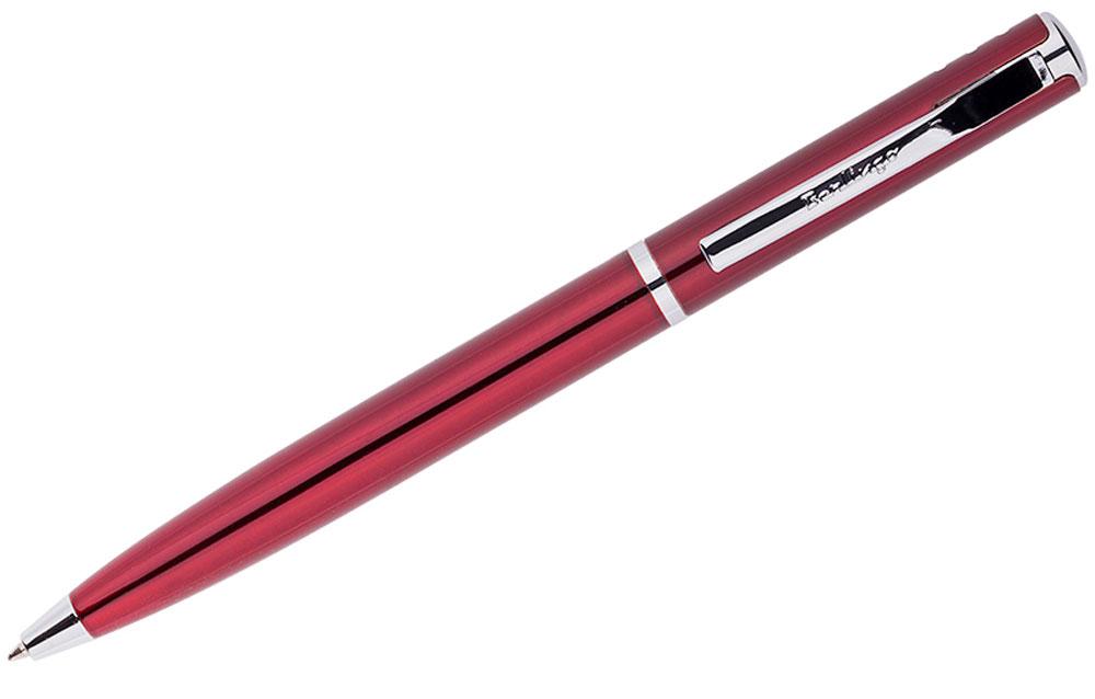 Berlingo Ручка шариковая Silver Standard цвет корпуса бордовыйB830863Элегантная автоматическая шариковая ручка Berlingo Silver Standard с поворотным механизмом имеет оригинальный дизайн зоны клипа. Цвет чернил - синий. Подходит для нанесения логотипа. Ручка упакована в индивидуальный пластиковый футляр.