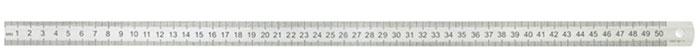 ArtSpace Линейка 50 смЛС-50-527Школьная металлическая линейка длиной 50 см ArtSpace предназначена для измерения расстояний и черчения отрезков.Шкала с двух сторон. Имеет отверстие для подвешивания. Прочная и упругая линейка незаменима на уроках геометрии и черчении.Линейка упакована в удобный прозрачный ПВХ чехол для хранения и переноса.