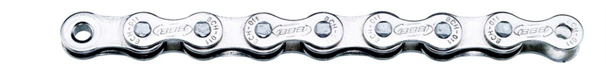 Цепь велосипедная BBB SingleLine Single Speed CP, цвет: серебристыйASS-02 S/MЦепь для односкоростной трансмиссии, или для планетарной втулки.114 звеньев.Цвет - Никелированный.Вес: 397 грамм.Замок цепи: SmartLink (BCH-01S).
