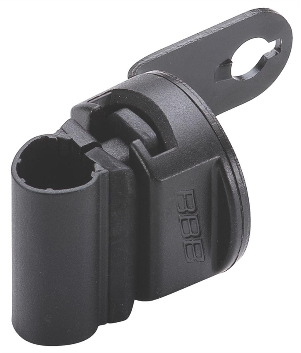 Держатель для велозамка BBB CableFix BracketSСJ-2201Универсальная крепежная скоба для тросов с замком BBB.Скоба крепится к подседельному штырю.Подходит для тросов диаметром: 6, 8, 10 и 12 мм.,