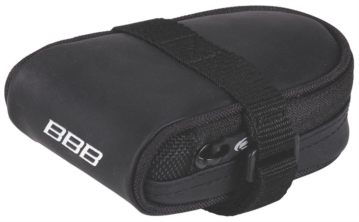 Велосумка под седло BBB RacePack, цвет: черныйSF 0158Компактная подседельная сумка для крепления непосредственно к седлу.Удобная система крепежных ремней для надёжной фиксации.Продуманный дизайн - едва заметна на велосипеде, но достаточно вместительная, чтобы в ней разместились шоссейная камера и монтажки.Объём - 160см3.