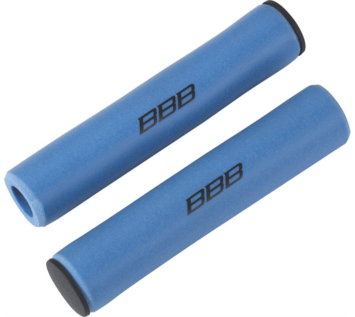 Грипсы BBB Sticky, цвет: синий, 13 см, 2 шт. BHG-34Z90 blackЛегкие и комфортные грипсы BBB Sticky имеют вибро- и ударопоглощающими свойства. Они предназначены для более удобного управления велосипедом. Силиконовое покрытие обеспечивает прекрасное сцепление с перчатками.Заглушки руля в комплекте.Длина грипс: 13 см.Вес: 49 г.