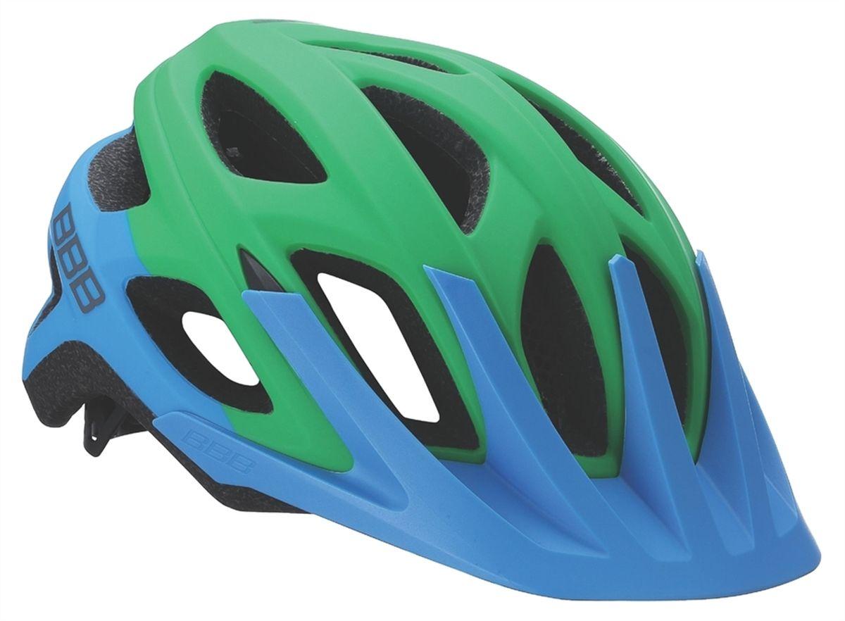Шлем летний BBB Varallo, цвет синий, зеленый. Размер LХ66762BBB Varallo - это настоящий шлем для MTB. Регулируемый козырек защищает ваши глаза от солнца и грязи, а 18 вентиляционных отверстий обеспечивают комфорт.Особенности:Шлем для маунтинбайка (all-mountain).Интегрированная конструкция.18 вентиляционных отверстий.Отверстия для вентиляции в задней части шлема для оптимального распределения потоков воздуха.Защитная сетка от насекомых в вентиляционных отверстиях.Настраиваемые ремешки для максимально комфортной посадки.Простая в использовании система настройки TwistClose, можно настроить шлем одной рукой.Съемные мягкие накладки с антибактериальными свойствами и возможностью стирки.Съемный козырек.Светоотражающие наклейки на задней части шлема.Обхват головы: 58-61,5 см.