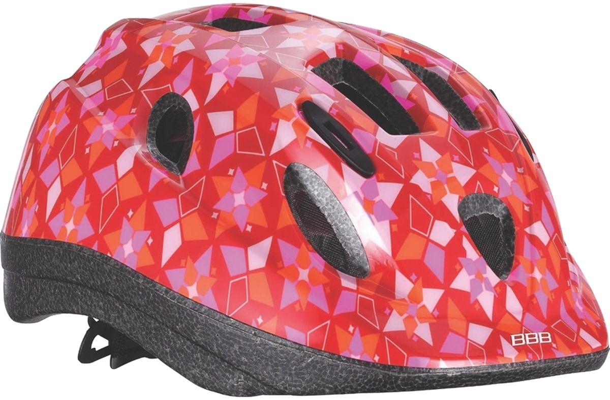 Шлем летний BBB Boogy Sweet. Размер S (48-54 см)BHE-37Легкий и надежный велосипедный шлем BBB Boogy Sweet предназначен для детей. Имеет 12 вентиляционных отверстий, обеспечивающих комфорт во время ношения. Встроенная сетка защищает ребенка от насекомых. Регулируемые ремни обеспечивают шлему идеальную посадку. Удобная регулировка TwistClose системы, можно регулировать одной рукой. Шлем оснащен моющимися антибактериальными колодками. Светоотражающие элементы сзади обеспечивают безопасность на дороге.Обхват головы: 48-54 см.