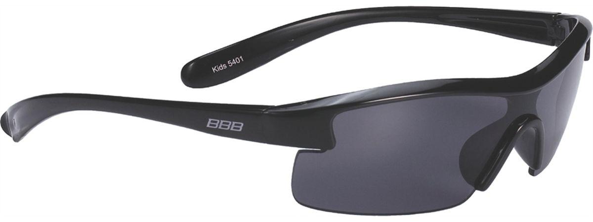 Очки солнцезащитные BBB Kids PC Smoke Lens, цвет: черныйBSG-52Специальные детские очки небольшого размера.Прочная монолитная оправа из поликарбоната.Округлая форма линз обеспечивает защиту от солнца, пыли и ветра.100% защита от ультрафиолета.Мешочек для хранения в комплекте.