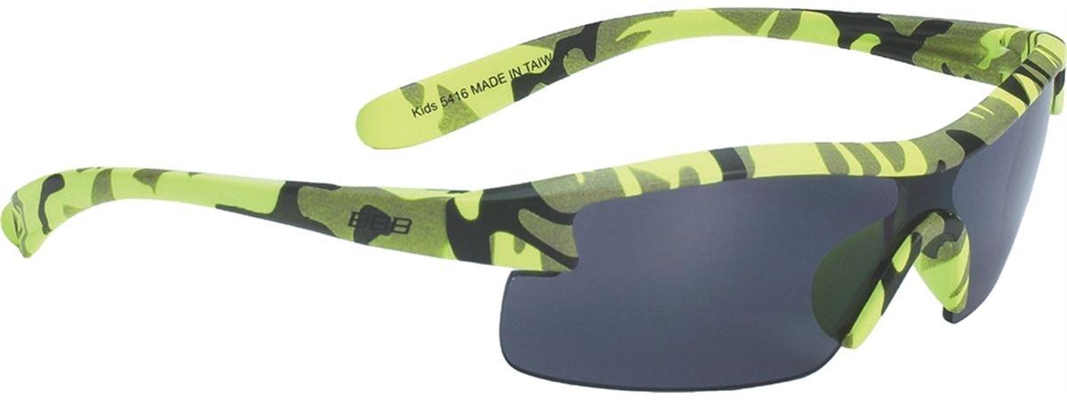 Очки солнцезащитные BBB Kids PC Smoke Lens, цвет: желтый, черныйBSG-54Специальные детские очки BBB Kids PC Smoke Lens небольшого размера имеют прочную монолитную оправу, выполненную из поликарбоната. Округлая форма линз обеспечивает защиту от солнца, пыли и ветра. 100% защита от ультрафиолета.Мешочек для хранения в комплекте.