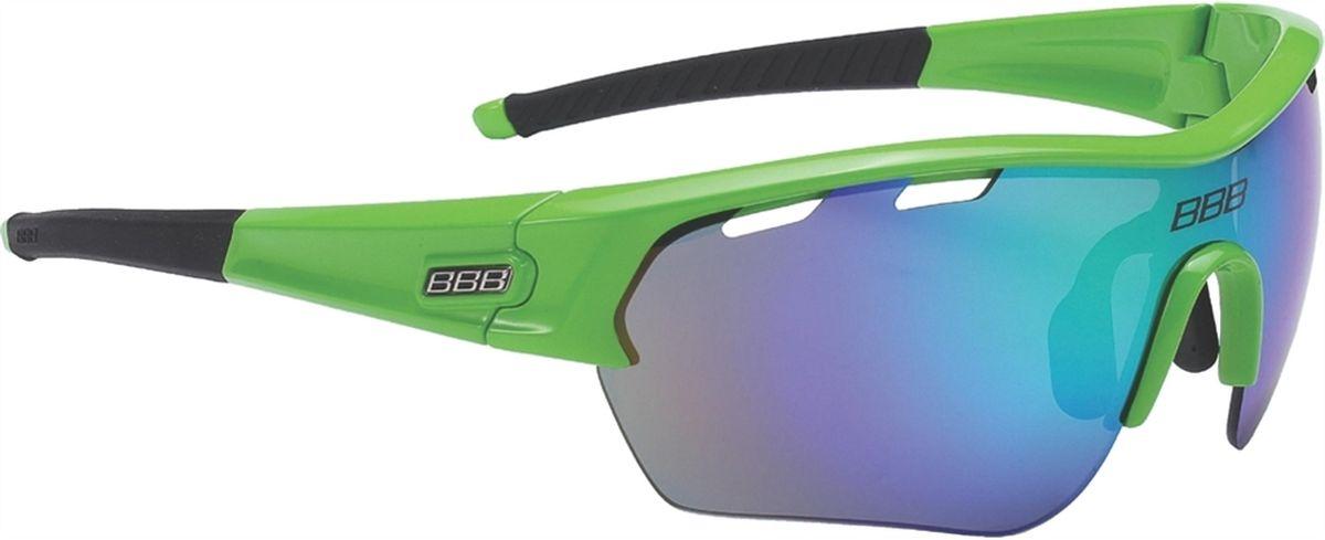 Очки солнцезащитные BBB Select XL MLC Green XL Lens Black Tips, цвет: зеленыйMW-1462-01-SR серебристыйОчки с линзами увеличенного размера.Все линзы снабжены специальной системой вентиляции. С внутренней стороны на них нанесено специальное покрытие, предотвращающее запотевание. Всё это способствует отличной работе в условиях высокой влажности и под дождём.На линзу нанесено гидрофобное покрытие. В дождь вода быстро стекает по линзе во время движения.Отдельно доступны разнообразные варианты цветовых схем линз и наконечников дужек.Округлая форма линз обеспечивает оптимальную защиту от солнца, пыли и ветра.100% защита от ультрафиолета.Высокотехнологичная оправа из материала Grilamid с настраиваемой переносицей.Футляр в комплекте.В комплекте сменные линзы: прозрачные и желтые.