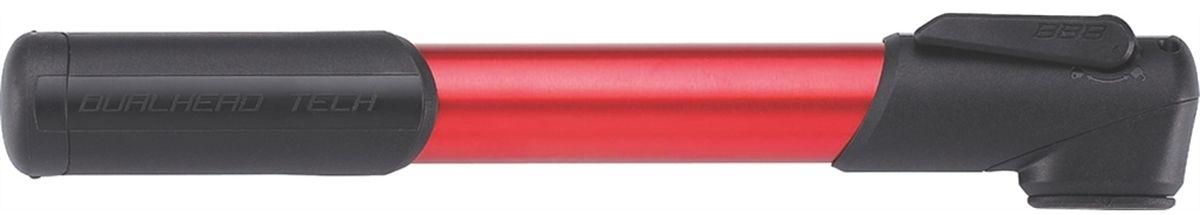 """Насос велосипедный BBB """"WindRush S"""", цвет: красный, черный, 250 мм"""