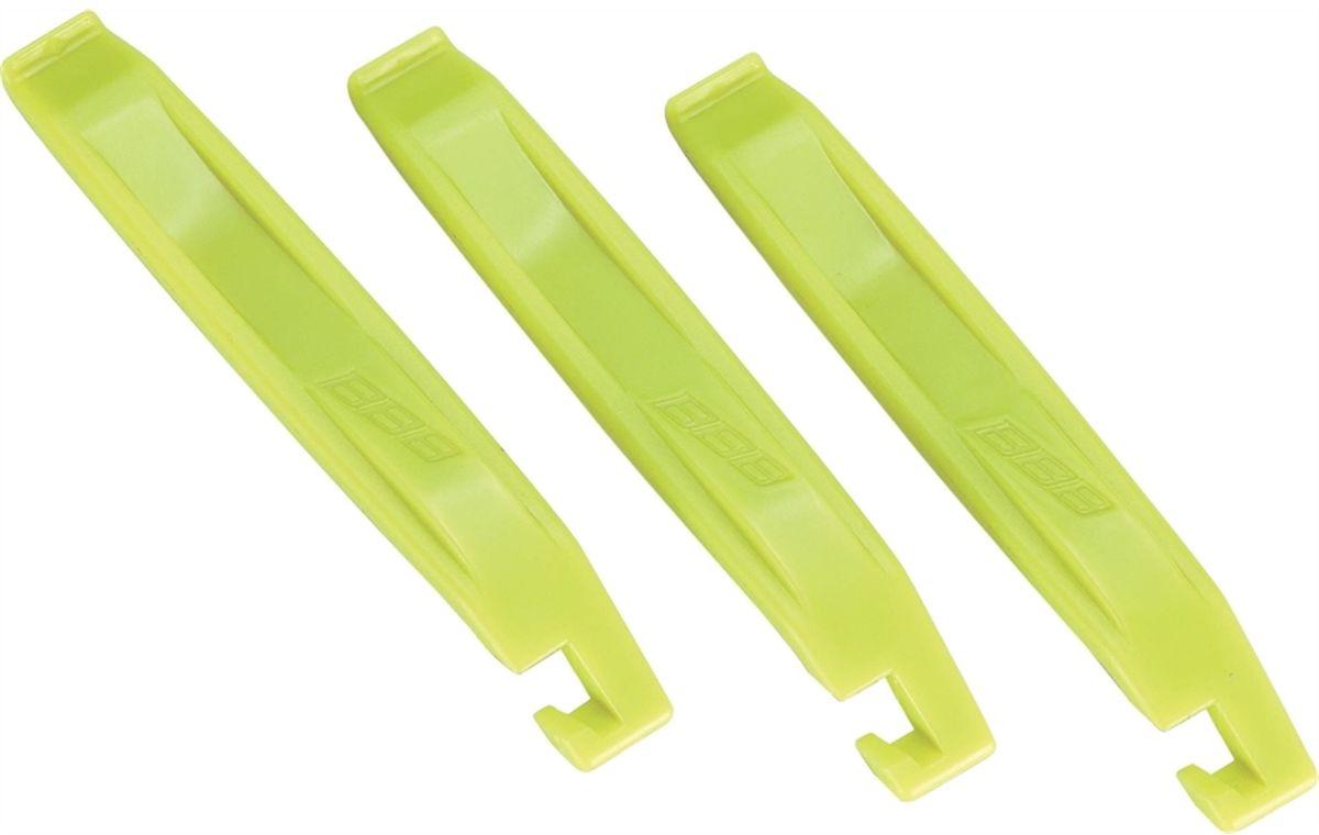 Инструмент BBB EasyLift, цвет: желтый, 3 штBTL-81Легкие в обращении инструменты BBB EasyLift предназначены для монтажа и демонтажа покрышек. Могут соединяться вместе. Инструменты выполнены из пластика.