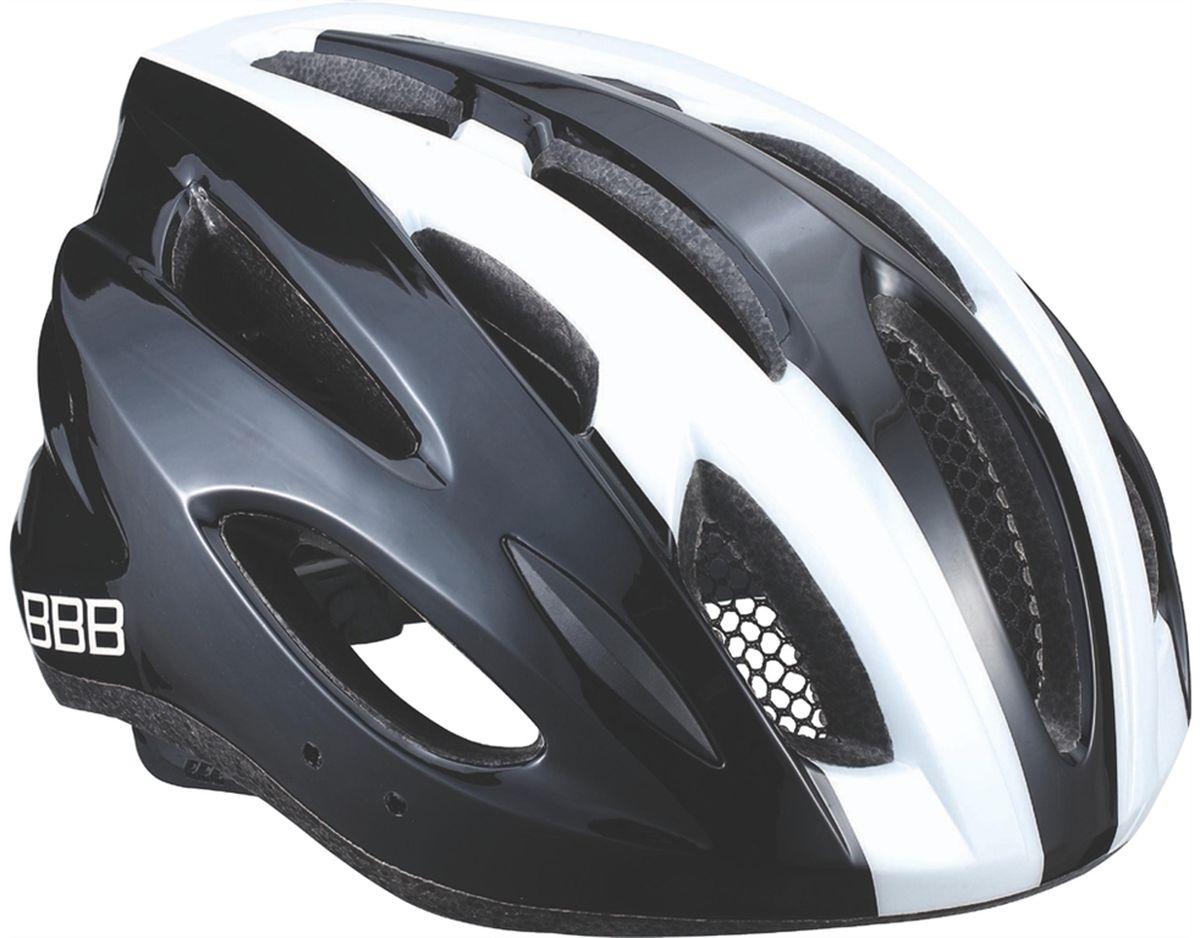 Шлем летний BBB Condor, цвет: черный, белый. Размер MBHE-35Если вы не понаслышке знакомы с разнообразными насекомыми, залетающими в вентиляционные отверстия шлема летом - вам может очень пригодиться BBB Condor. Фронтальные отверстия прикрыты мелкой сеткой для защиты от непрошенных гостей. Кроме того, у шлема всего суммарно 18 отверстий для вентиляции и интегрированная конструкция для максимальной защиты в случае падений. Съемный козырек делает этот шлем одинаково хорошо подходящим как для шоссе, так и для маунтинбайка.Особенности:Интегрированная конструкция.18 вентиляционных отверстий.Отверстия для вентиляции в задней части шлема для оптимального распределения потоков воздуха.Защитная сетка от насекомых в вентиляционных отверстиях.Настраиваемые ремешки для максимально комфортной посадки.Простая в использовании система настройки TwistClose, можно настроить шлем одной рукой.Съемные мягкие накладки с антибактериальными свойствами и возможностью стирки.Светоотражающие наклейки на задней части шлема.Съемный козырек в комплекте.Обхват головы: 54-58 см.