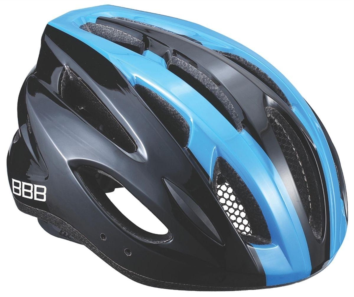 Шлем летний BBB Condor, цвет: черный, синий. Размер LASS-02 S/MЕсли вы не понаслышке знакомы с разнообразными насекомыми, залетающими в вентиляционные отверстия шлема летом - вам может очень пригодиться BBB Condor. Фронтальные отверстия прикрыты мелкой сеткой для защиты от непрошенных гостей. Кроме того, у шлема всего суммарно 18 отверстий для вентиляции и интегрированная конструкция для максимальной защиты в случае падений. Съемный козырек делает этот шлем одинаково хорошо подходящим как для шоссе, так и для маунтинбайка.Особенности:Интегрированная конструкция.18 вентиляционных отверстий.Отверстия для вентиляции в задней части шлема для оптимального распределения потоков воздуха.Защитная сетка от насекомых в вентиляционных отверстиях.Настраиваемые ремешки для максимально комфортной посадки.Простая в использовании система настройки TwistClose, можно настроить шлем одной рукой.Съемные мягкие накладки с антибактериальными свойствами и возможностью стирки.Светоотражающие наклейки на задней части шлема.Съемный козырек в комплекте.Обхват головы: 58-61,5 см.