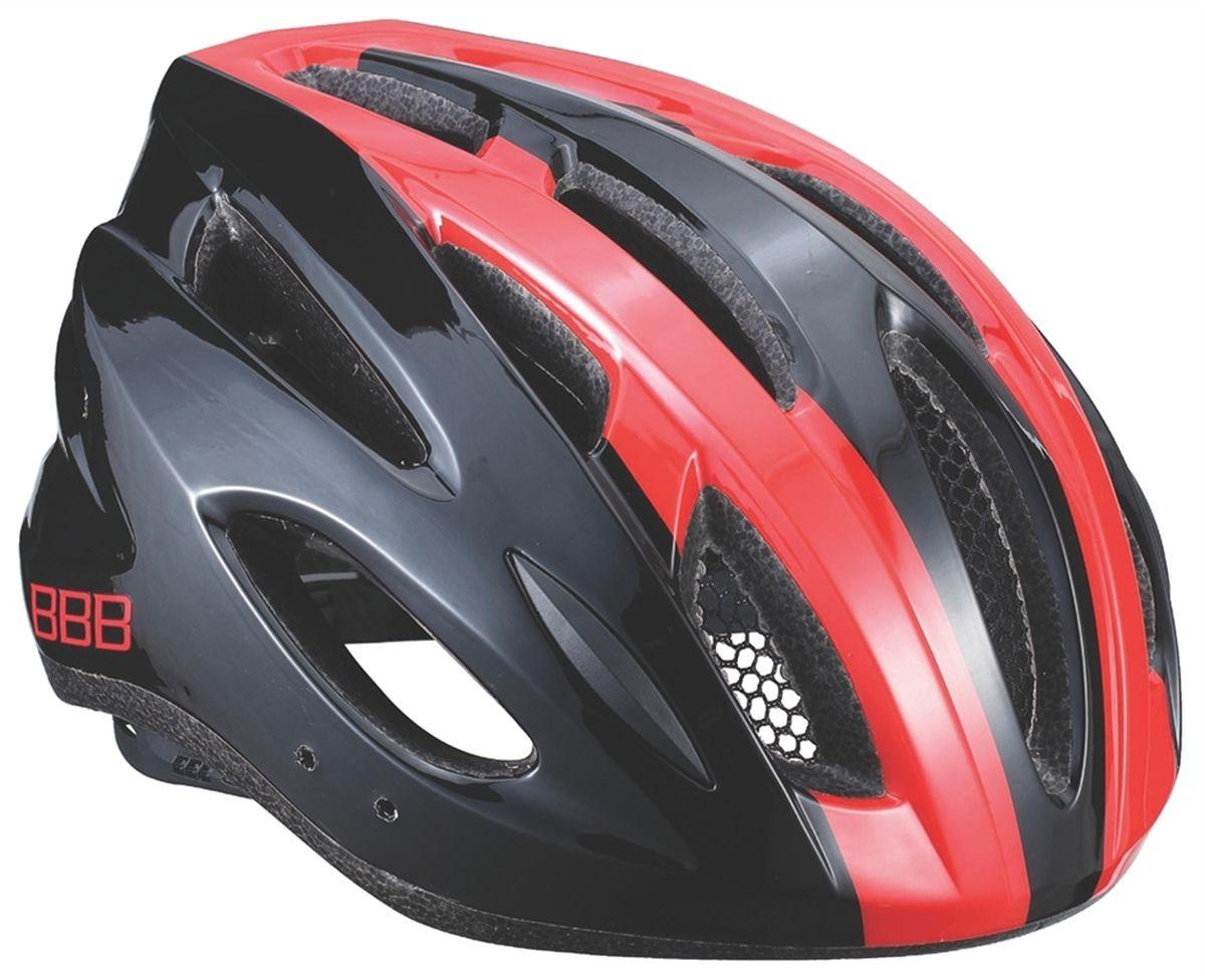 Шлем летний BBB Condor, цвет: черный, красный. Размер MZ90 blackЕсли вы не понаслышке знакомы с разнообразными насекомыми, залетающими в вентиляционные отверстия шлема летом - вам может очень пригодиться BBB Condor. Фронтальные отверстия прикрыты мелкой сеткой для защиты от непрошенных гостей. Кроме того, у шлема всего суммарно 18 отверстий для вентиляции и интегрированная конструкция для максимальной защиты в случае падений. Съемный козырек делает этот шлем одинаково хорошо подходящим как для шоссе, так и для маунтинбайка.Особенности:Интегрированная конструкция.18 вентиляционных отверстий.Отверстия для вентиляции в задней части шлема для оптимального распределения потоков воздуха.Защитная сетка от насекомых в вентиляционных отверстиях.Настраиваемые ремешки для максимально комфортной посадки.Простая в использовании система настройки TwistClose, можно настроить шлем одной рукой.Съемные мягкие накладки с антибактериальными свойствами и возможностью стирки.Светоотражающие наклейки на задней части шлема.Съемный козырек в комплекте.Обхват головы: 54-58 см.
